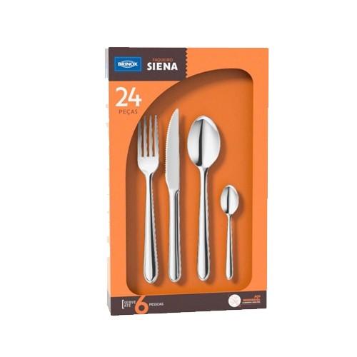 Faqueiro Siena 24Pçs Vrm Brinox 5109/142