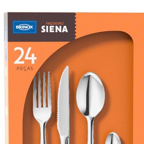 FAQUEIRO SIENA 24PCS VRM BRINOX 5109/142