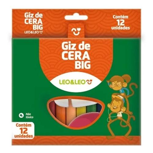 GIZ DE CERA 6 CORES GROSSO 10X100MM 4461 LEO E LEO