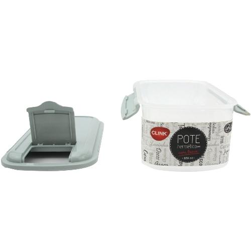Pote Trava Quadrado Plast 850Ml Clink Ck3137