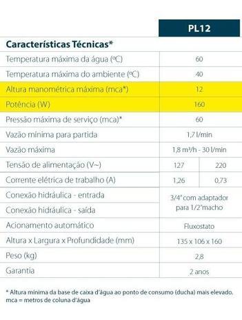 PRESSURIZADOR PL12 (12MCA) 220 LORENZETTI