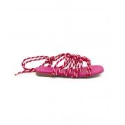Rasteira Cordas Pink