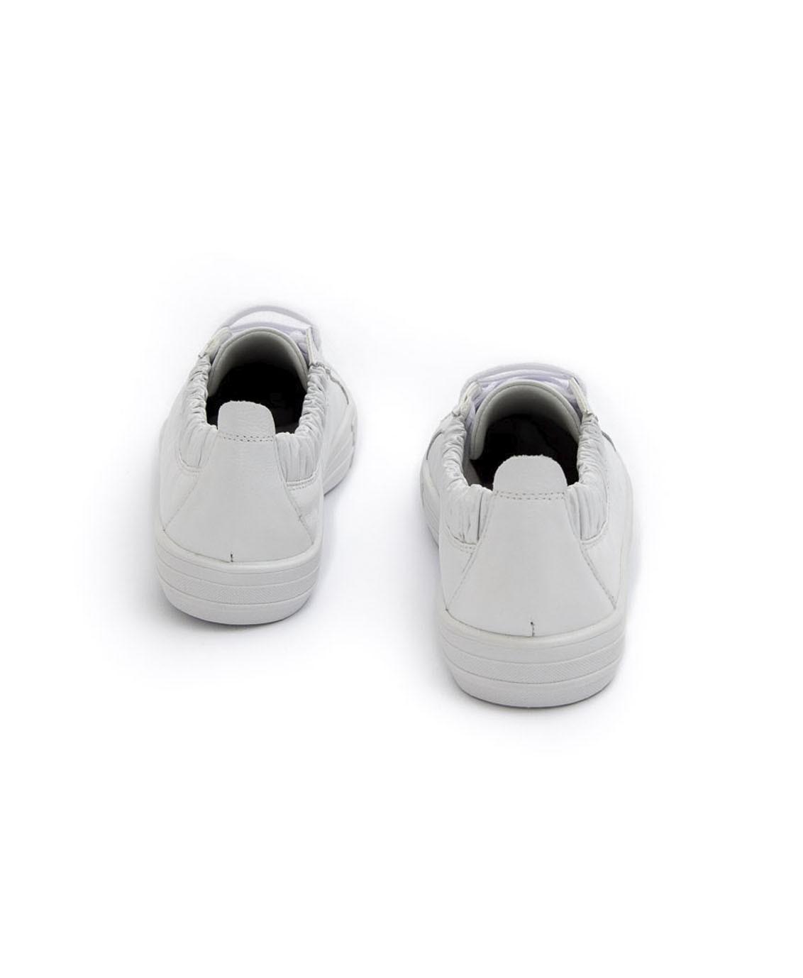 Tênis branco couro