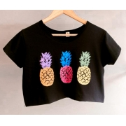 Cropped abacaxi neon