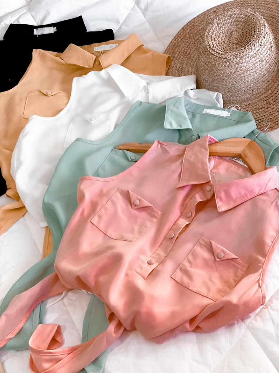 Blusa com amarração na cintura