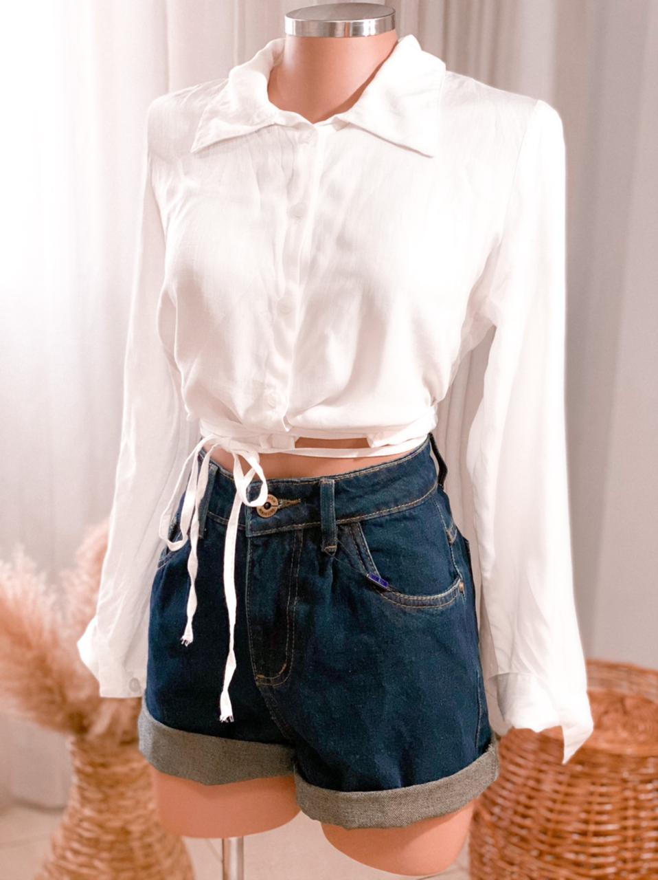 Cropped camisa