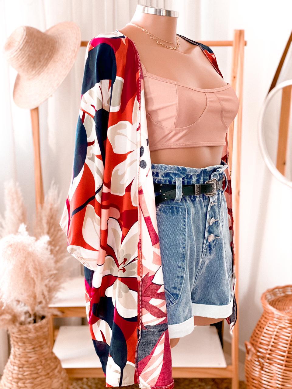 Kimono mix de estampas