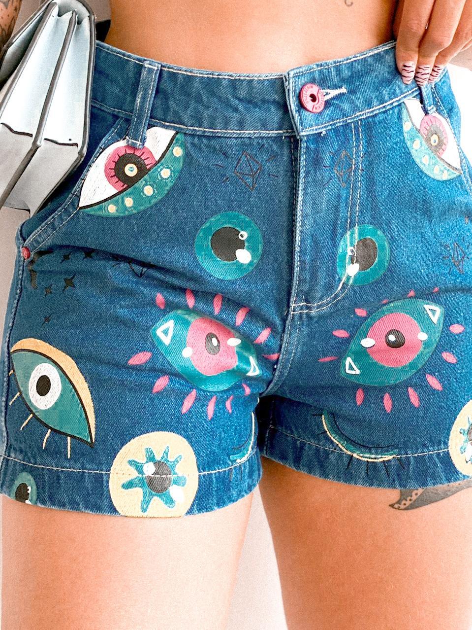Short ART jeans