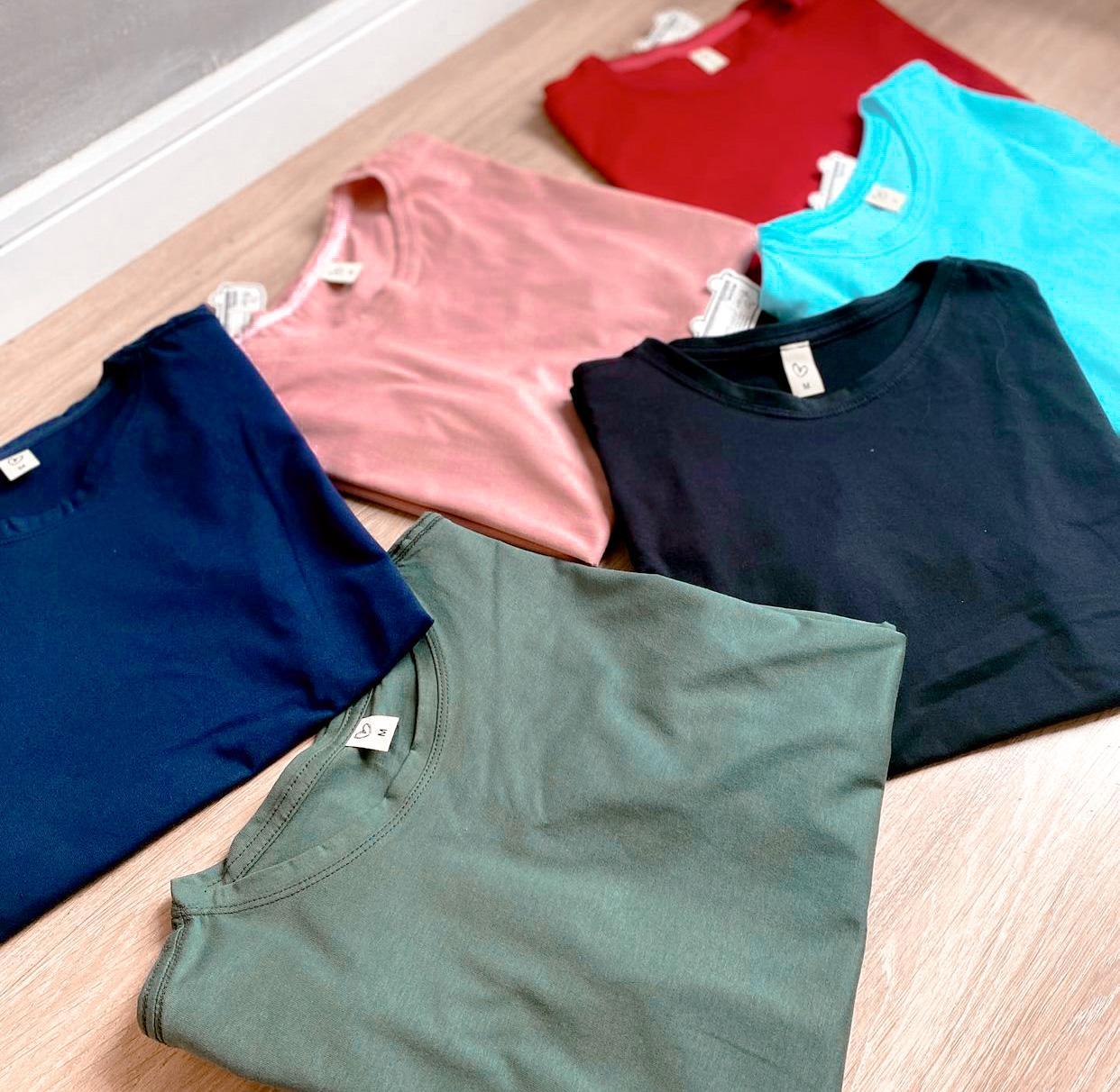 T-shirt  basic gola ''o''