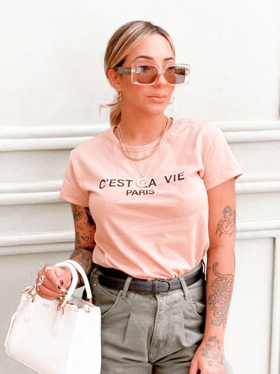 T-shirt Cest la vie paris