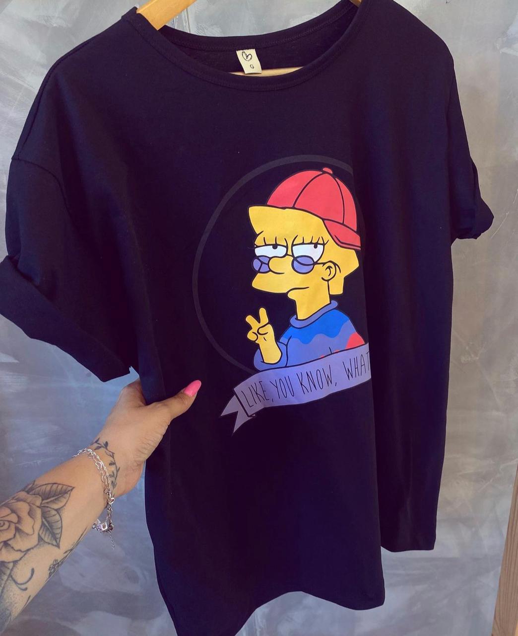 T-shirt max LISA SIMPSON WHATEVER