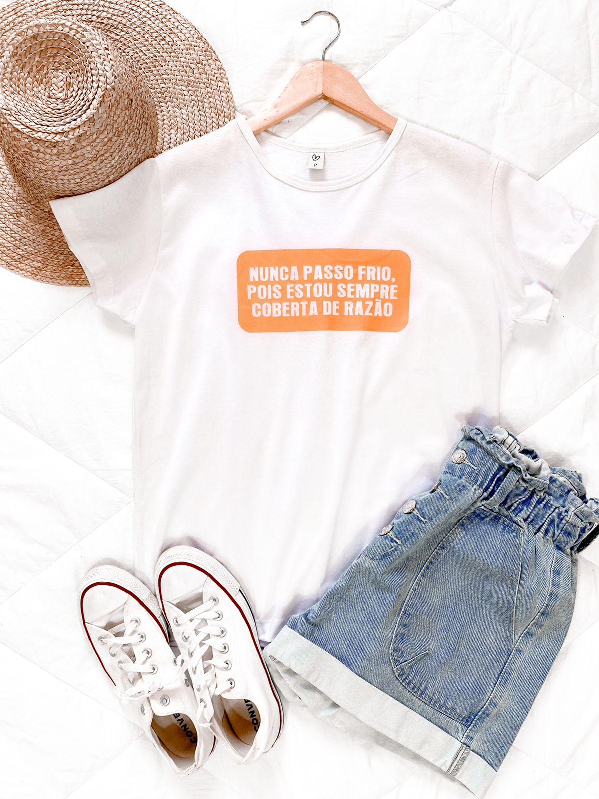 T-shirt max NUNCA PASSO FRIO