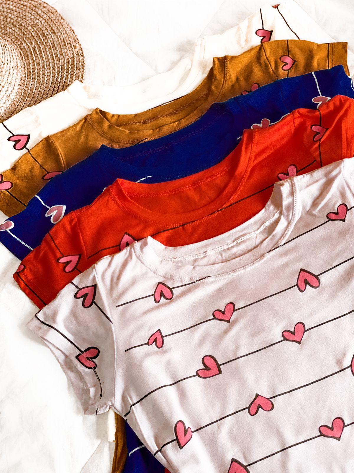 T-shirts Corações