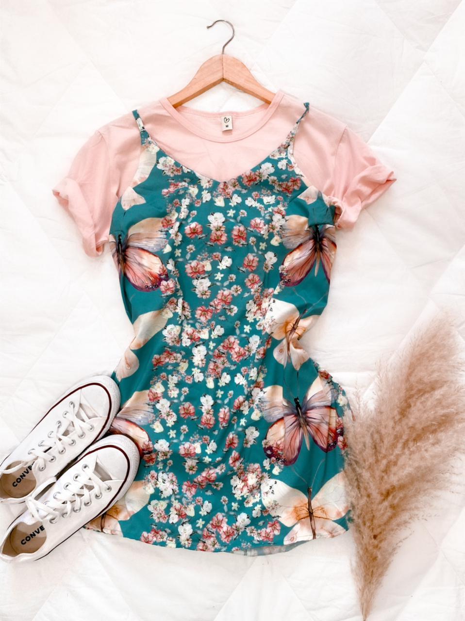 Vestido estampa borboleta
