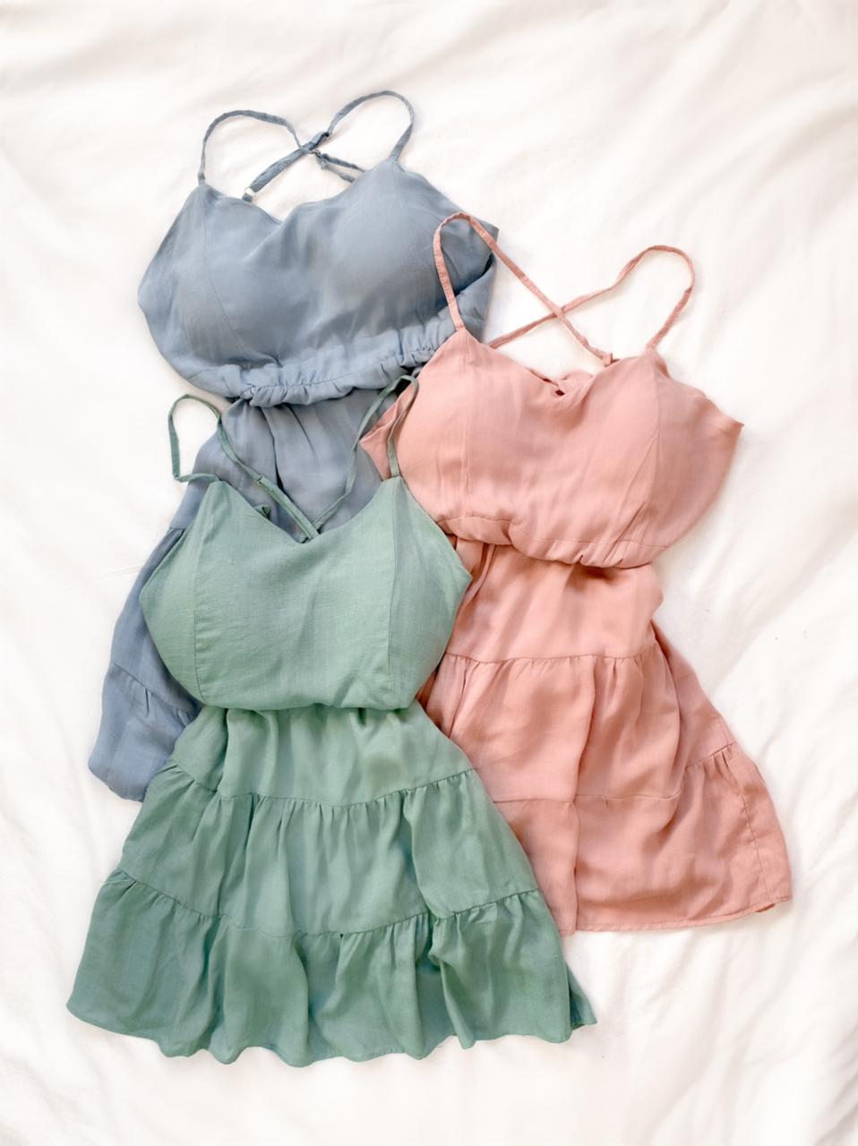 Vestido três marias alça com bojo