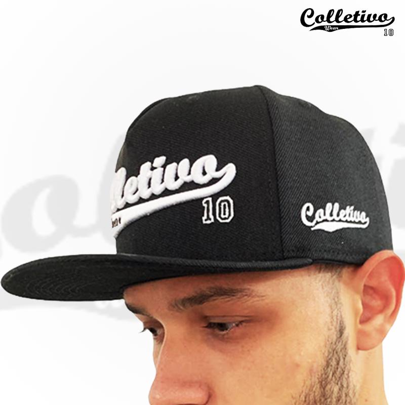 Boné Snapback Colletivo wear - preto