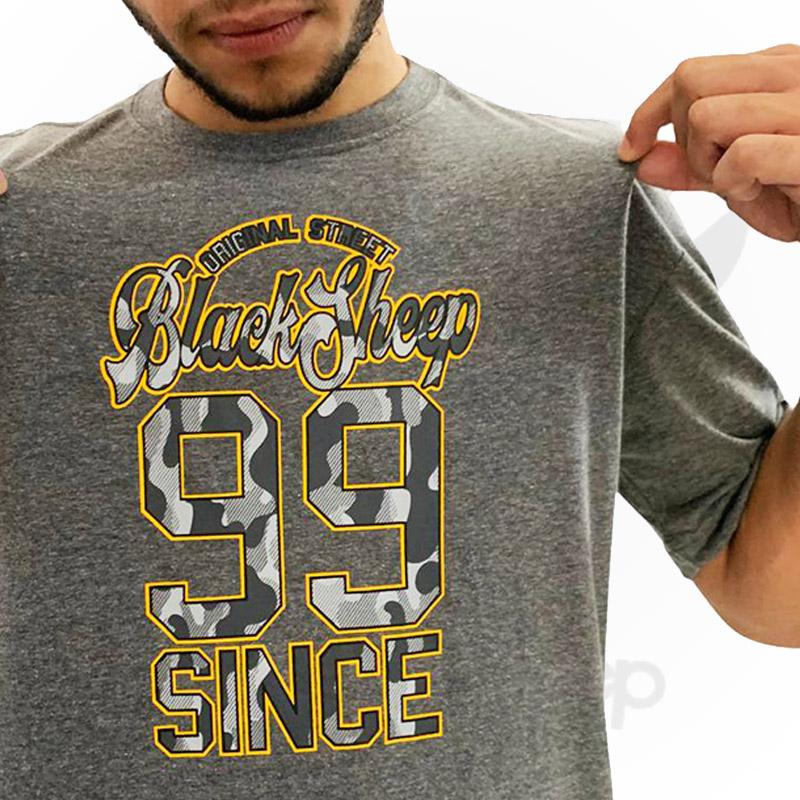 Camiseta Black Sheep 99 CINZA - G