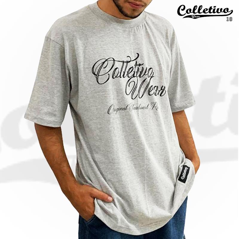 Camiseta Colletivo Wear Cinza esc GG