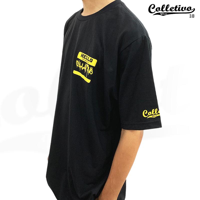 Camiseta Colletivo Wear Hello my name is COLLETIVO GG Preta