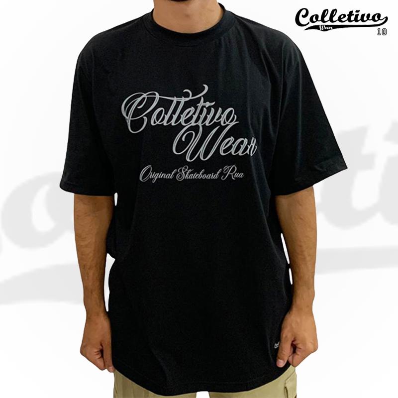 Camiseta Colletivo Wear - Preta esc GG