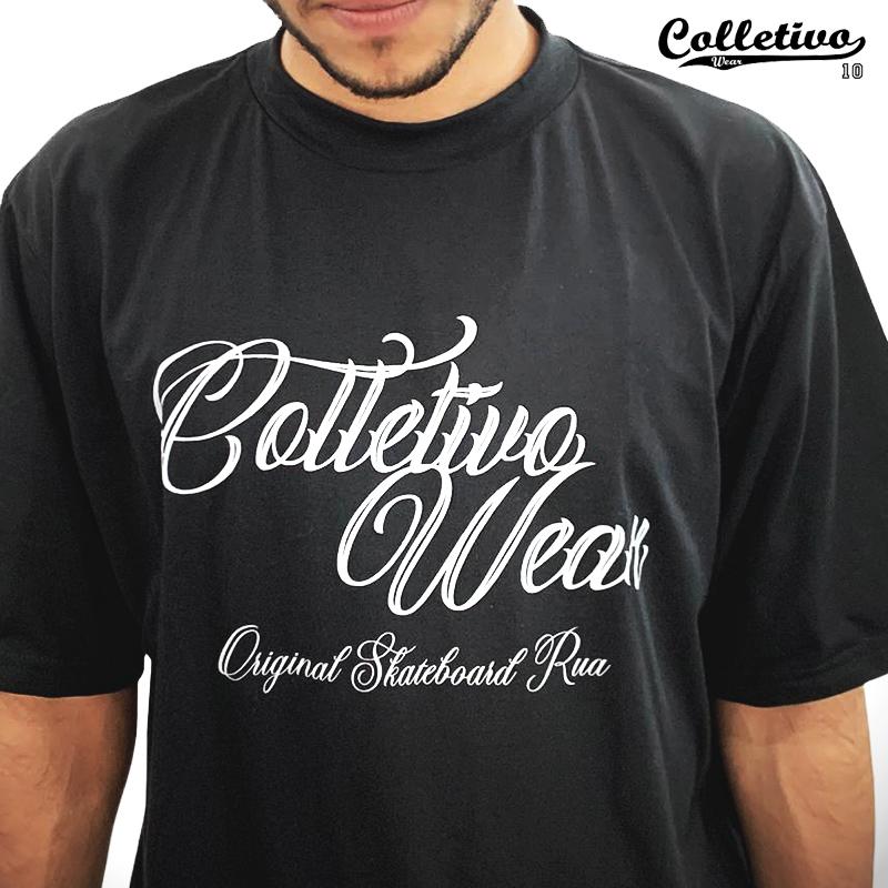 Camiseta Colletivo Wear Preta escrita GG