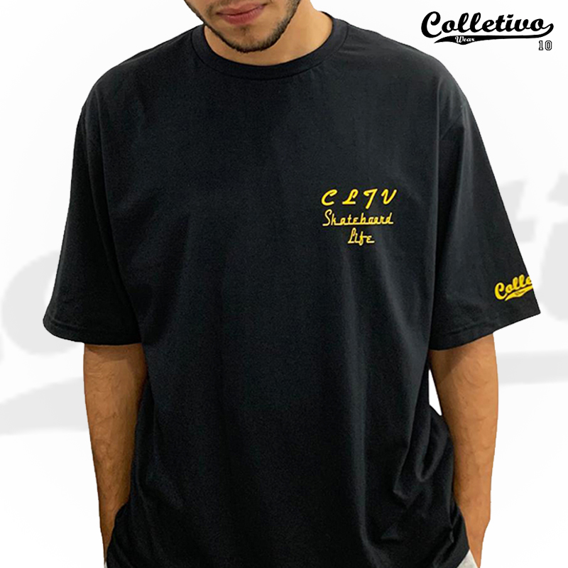 Camiseta Colletivo Wear PRETA - FINE LINE XL/GG