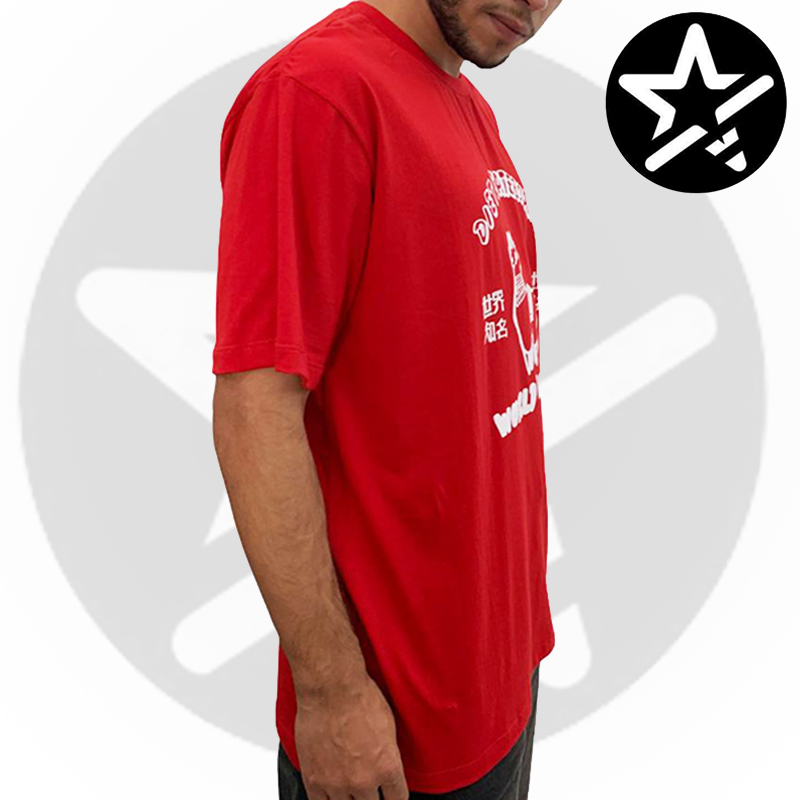 Camiseta Diet Skateboards - VERMELHA LHAMA - G