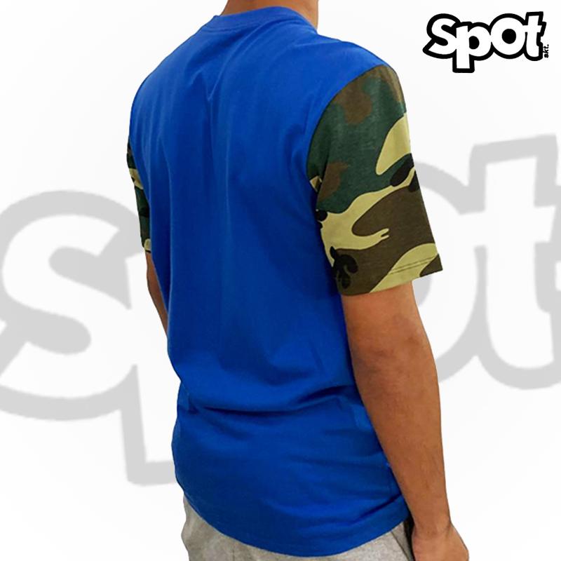 Camiseta SPOT - AZUL/CAMO - G