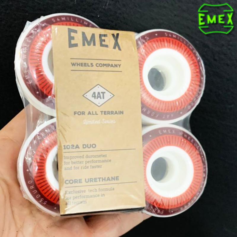 Rodas EMEX 54mm Vemelha 102A de Dureza importadas