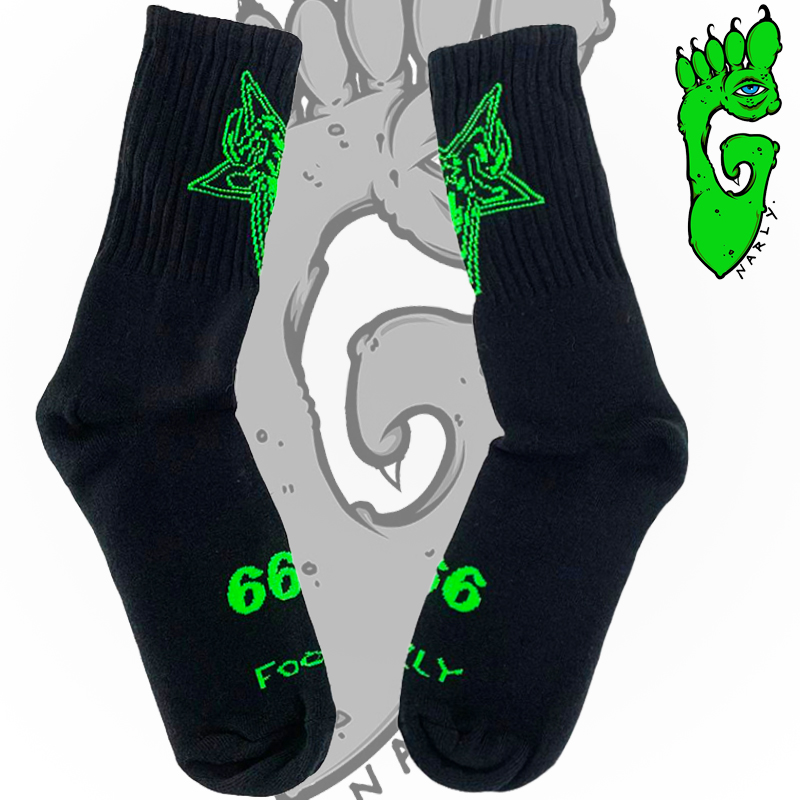 """Meias G-NARLY FOOT -  """"666"""""""