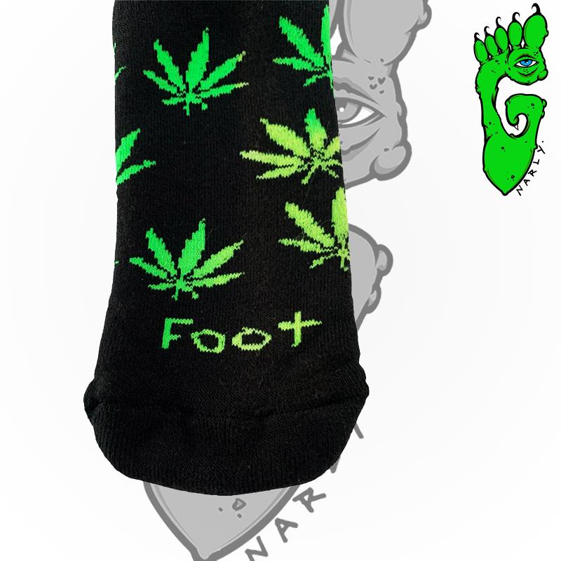 "Meias G-NARLY FOOT -  ""CANABIS"" ROXA"