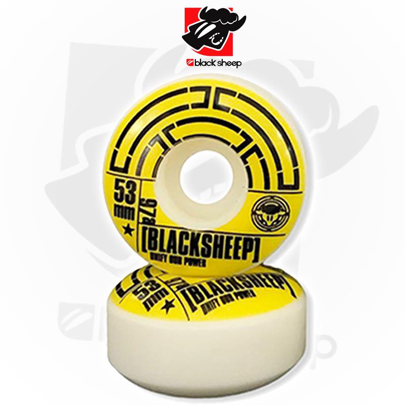 Rodas Black Sheep Modelo TUBO 53mm 52D (98A) de Dureza
