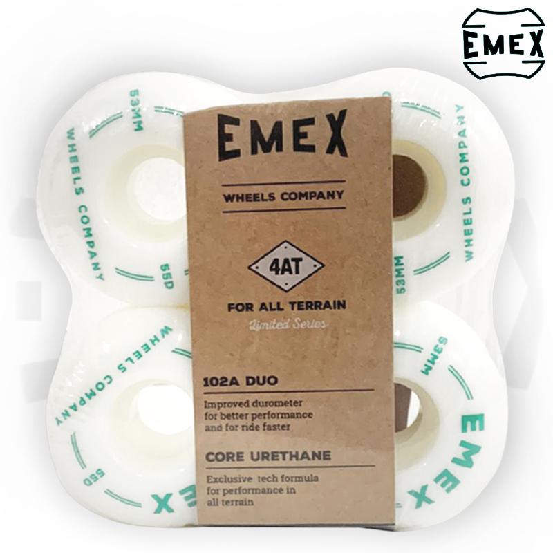 Rodas EMEX 53mm 102A de Dureza Importadas