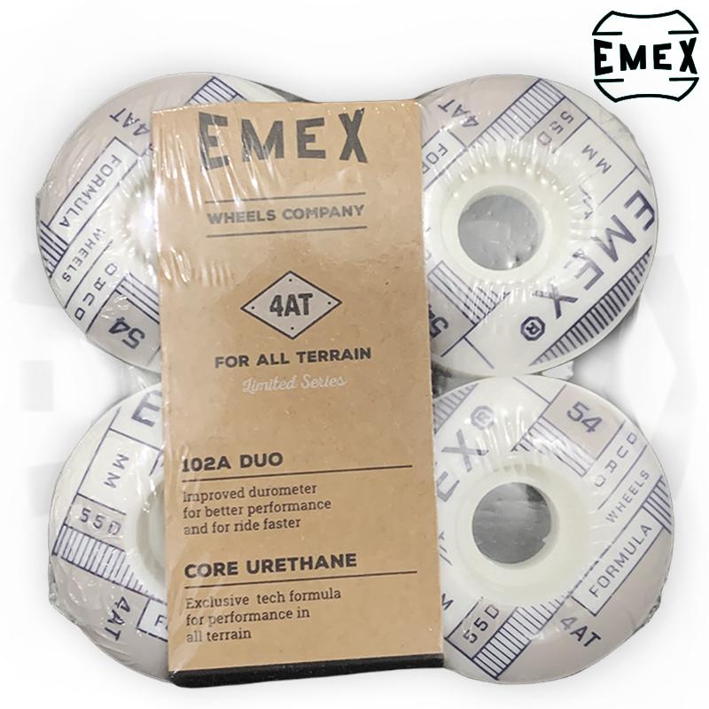 Rodas EMEX 54mm Cinza 102A de Dureza importadas