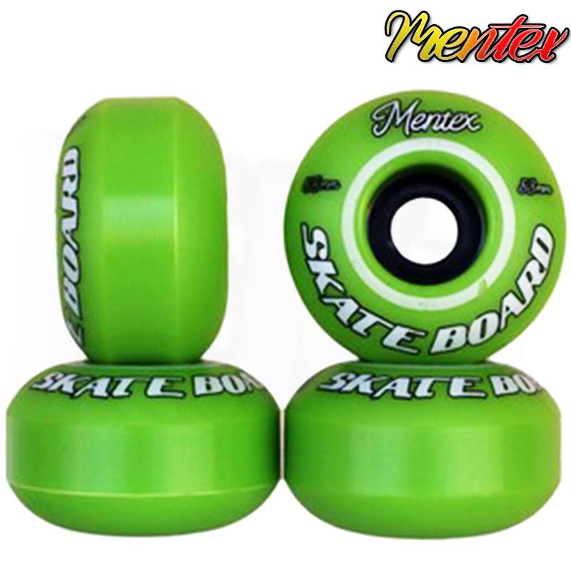 Rodas MENTEX Injetada 53mm 95A de Dureza Verdes