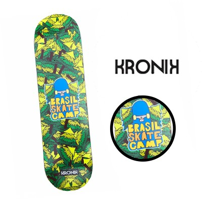 Shape Profissional Importado Maple Kronik -  Brasil Skate Camp 8.25