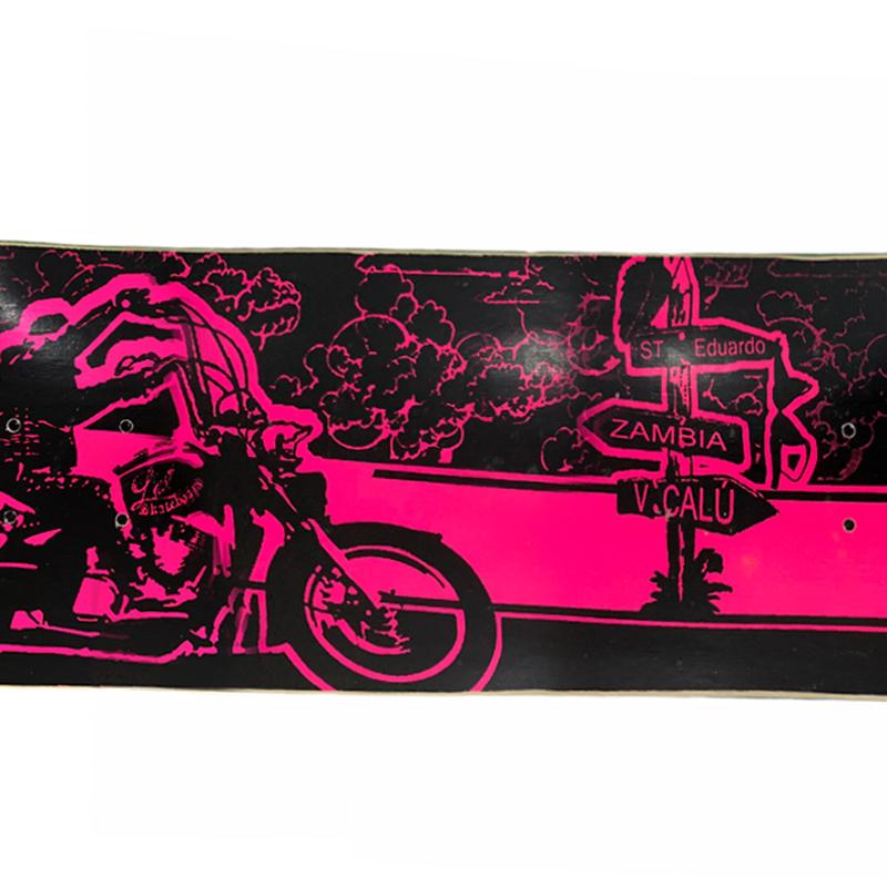 "Shape Last Skateboard 8.0 Marfim Profissionail - ""Ô CORRE"" - Rosa"