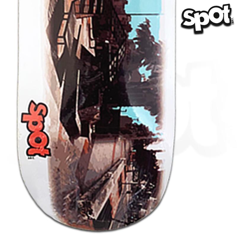 Shape Spot Skateboarding 8.25 Profissional Marfim com FIBBER GLASS Largo da batata