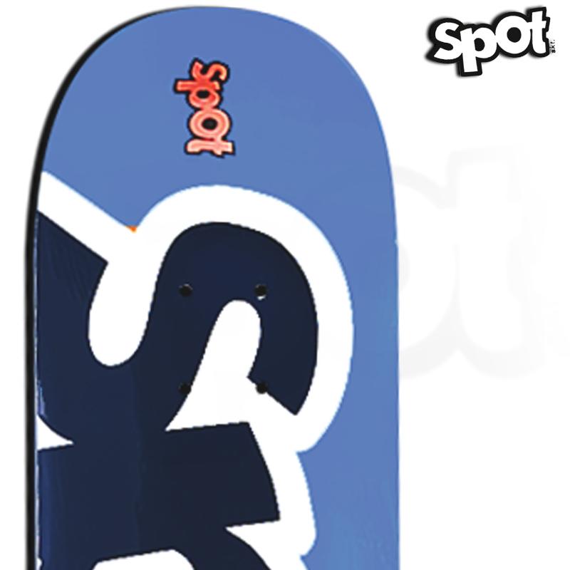 Shape Spot Skateboarding Azul 8.25 Profissional Marfim com FIBBER GLASS