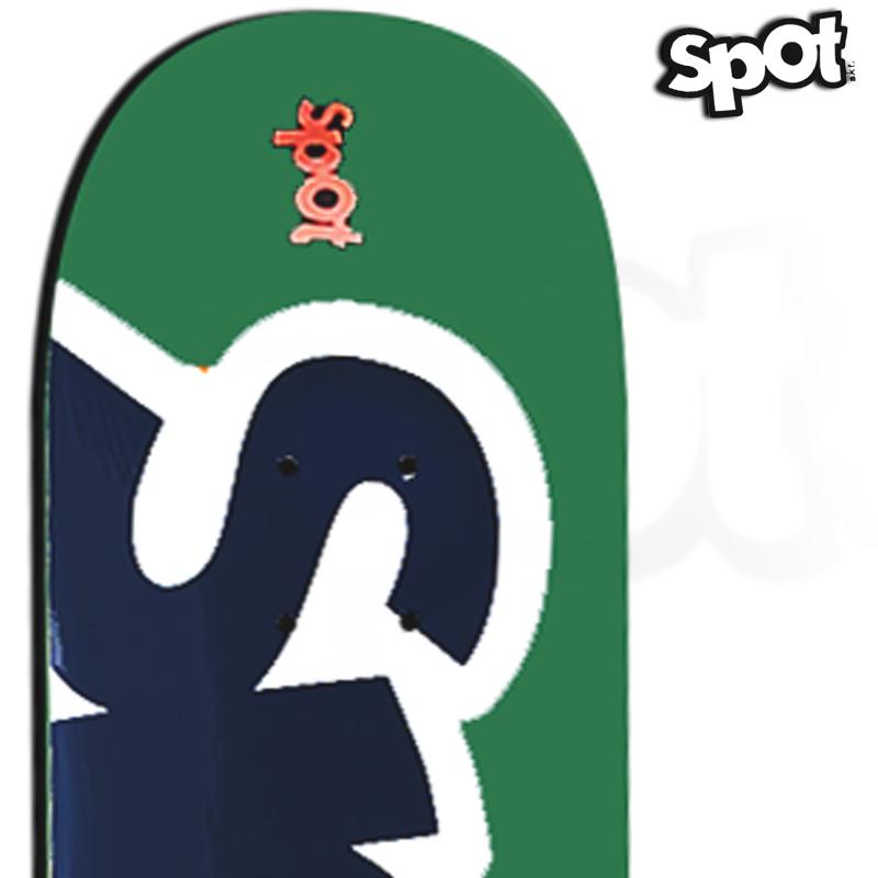 Shape Spot Skateboarding Verde 8.0 Profissional Marfim com FIBBER GLASS