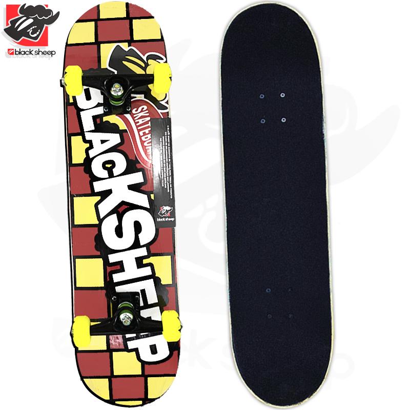Skate Montado Black Sheep Iniciante Modelo: Chocolate Chokito