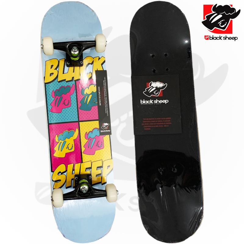 Skate Montado Black Sheep iniciante Modelo: POP Art