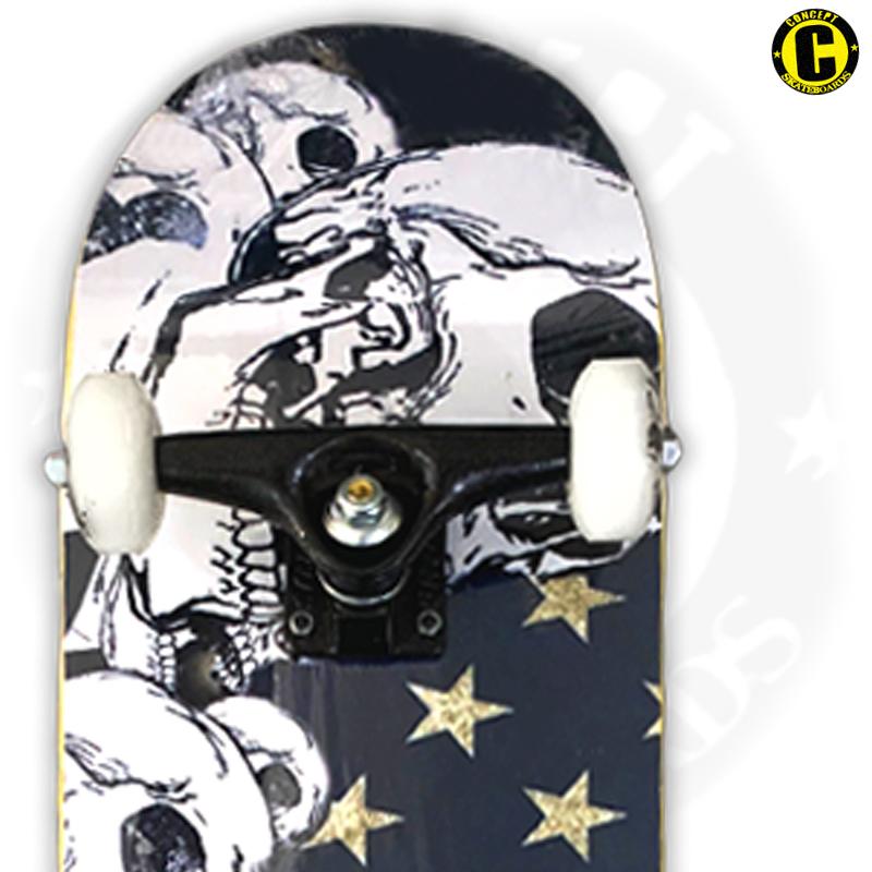 Skate Montado Concept iniciante Modelo: Caveira Americana