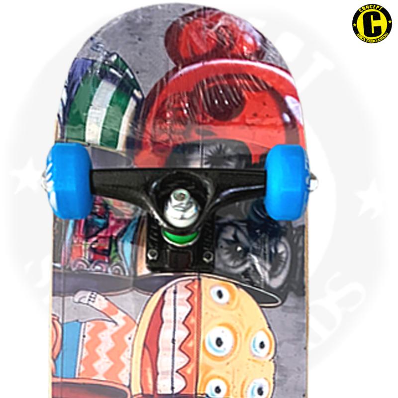 Skate Montado Concept iniciante Modelo: Grafite