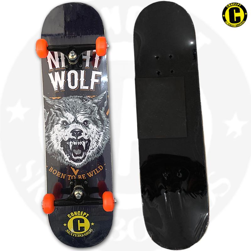 Skate Montado Concept iniciante Modelo: Night Wolf
