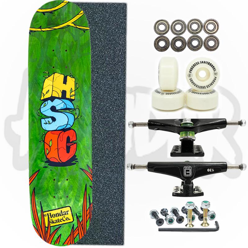 Skate Montado Hondar Com Shape de Maple Modelo: HSC