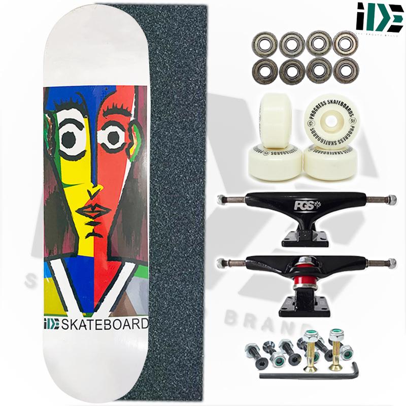 Skate Montado IDE Skateboard Semi profissional Modelo: IDE ART