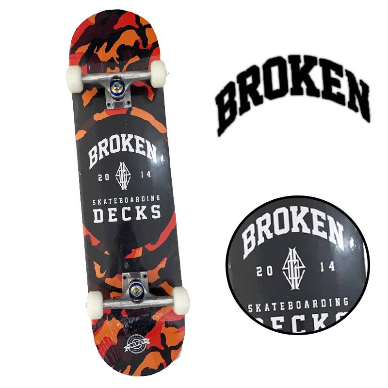 "Skate Montado - INICIANTE ""BROKEN """