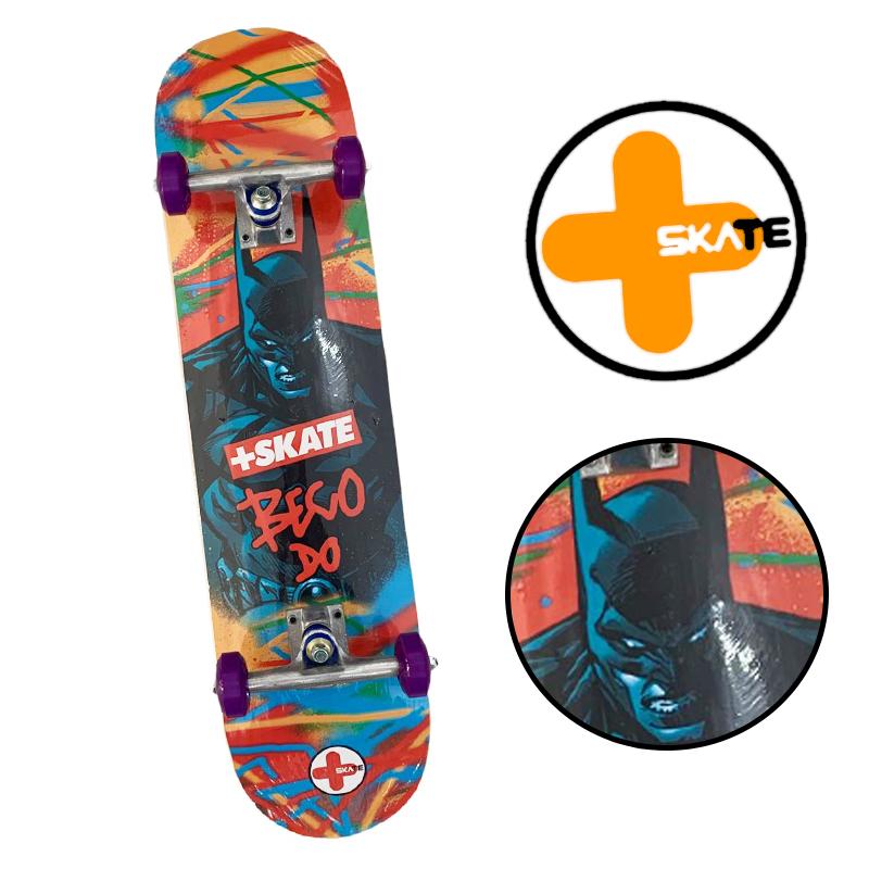 """Skate Montado - INICIANTE """" MAIS SKATE """" Modelo BECO DO BATMAN"""