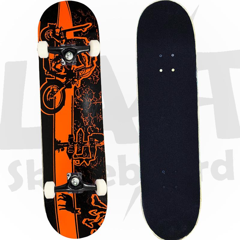 Skate Montado LAST SKATEBOARD Modelo: Ô CORRE